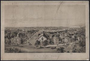 An Old Lithograph of Salem, MA