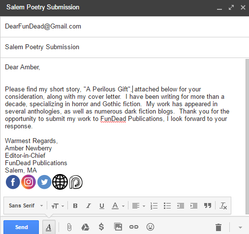 Writing Your Submission E-Mail – FunDead Publications